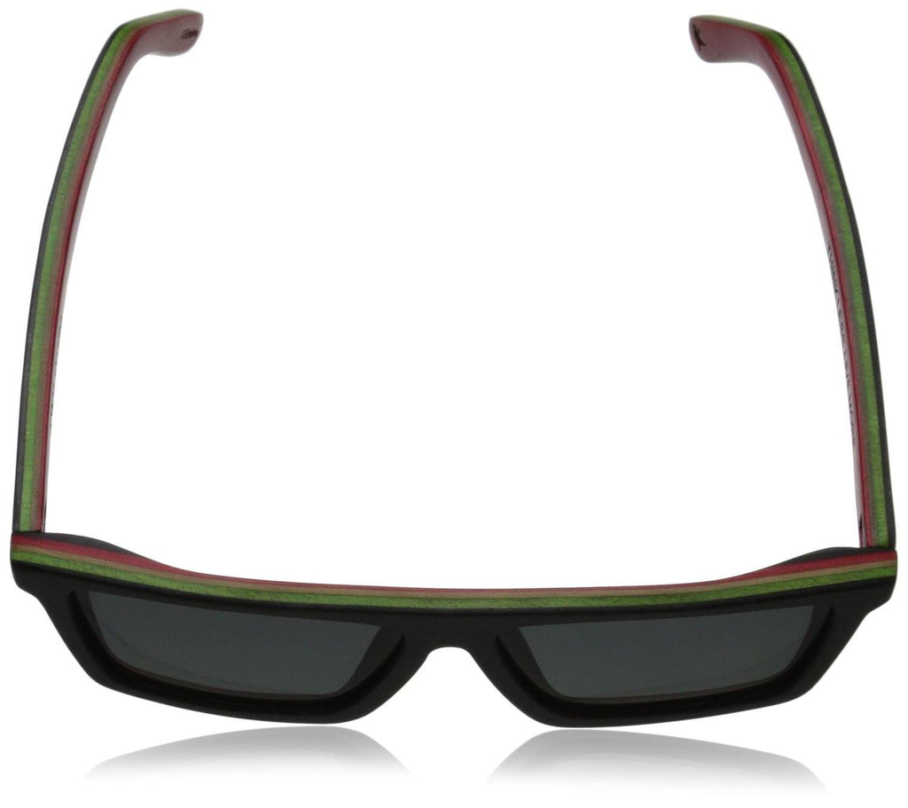 Proof Cosmo Skate Rasta Wood Rectangular Sunglasses - Proof India