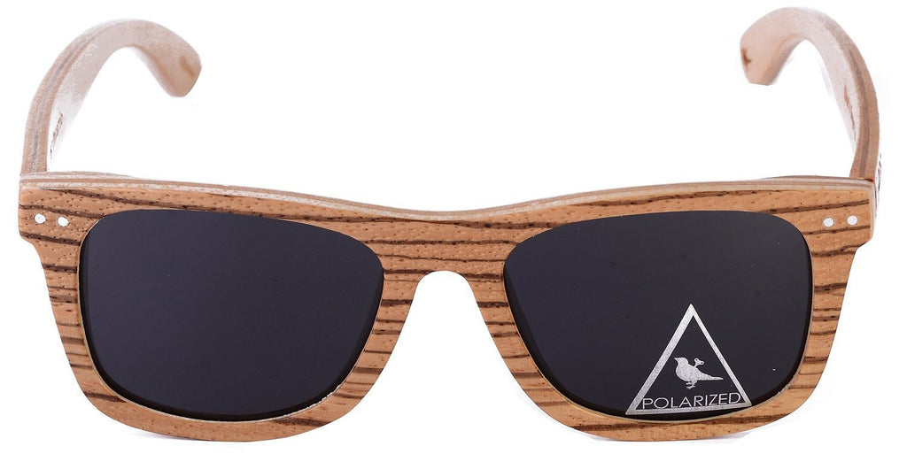 Proof Ontario Zebra Wood Wayfarer Sunglasses - Proof India