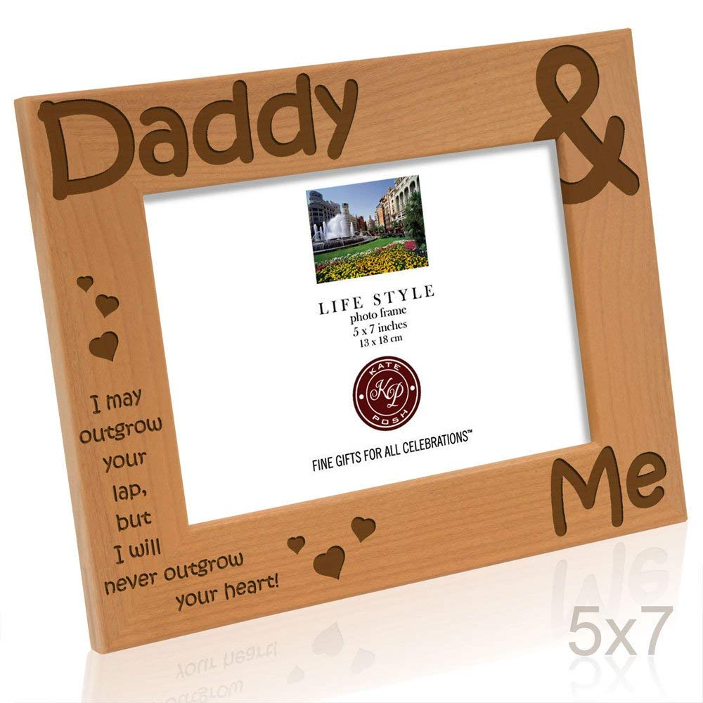 Kate Posh - Daddy & Me - I may outgrow your lap, but I will never outgrow your heart - Picture Frame (5x7 - Horizontal)