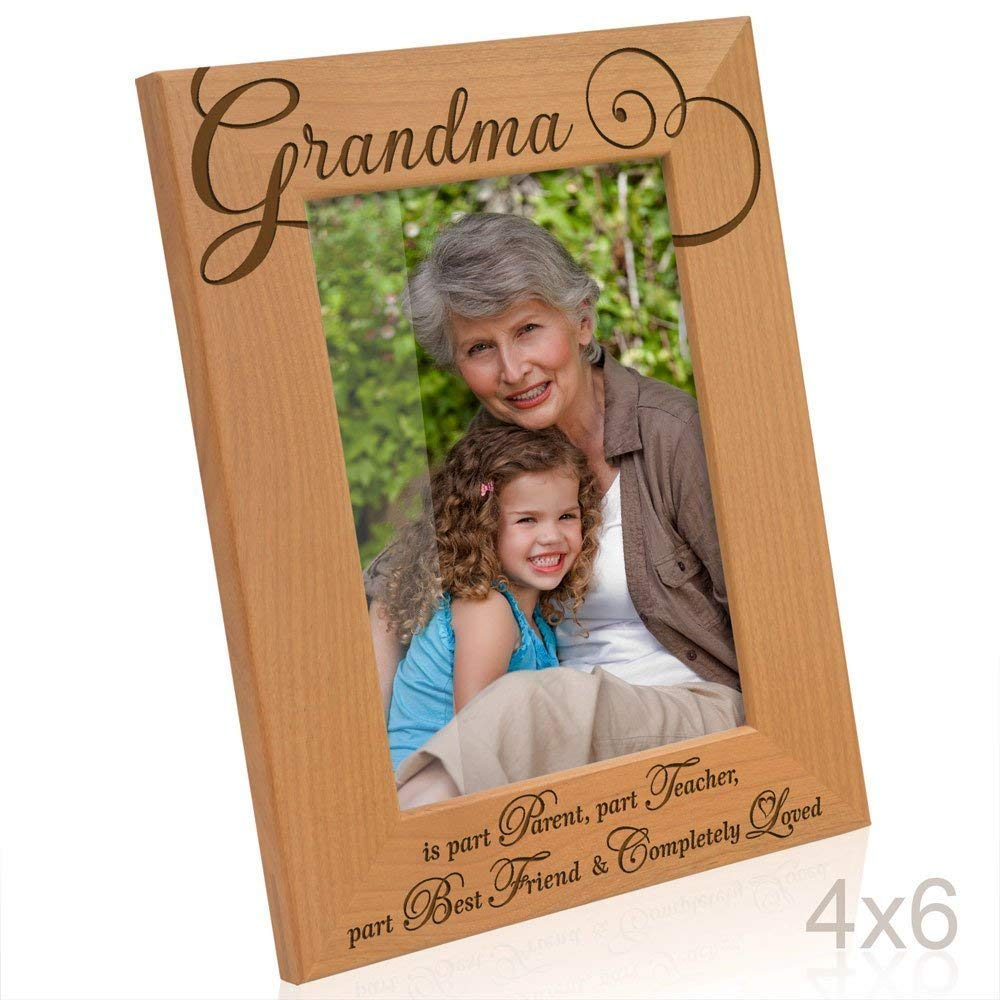Kate Posh - Grandma Picture Frame - Engraved Natural Wood Photo Frame - Mother's Day Gifts - Gifts for Grandmother - Grandma gifts - I love you Grandma Picture Frame - (4x6-Vertical)