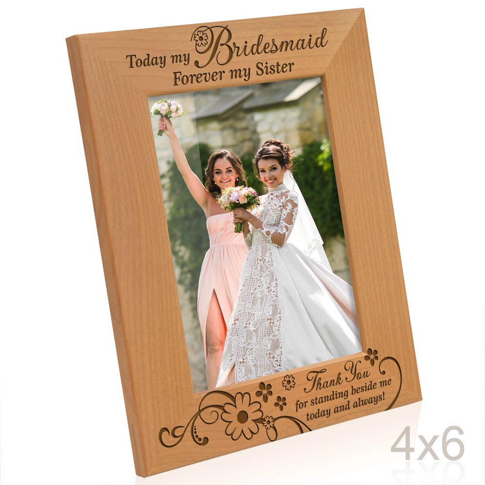 Kate Posh - Bridesmaid and Bridesmaid (s) Wooden Picture Frame