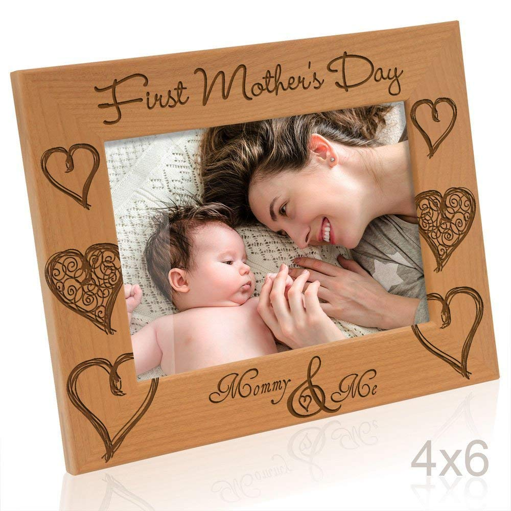 Kate Posh - First Mother's Day with Mommy & Me Picture Frame (4x6 - Horizontal)