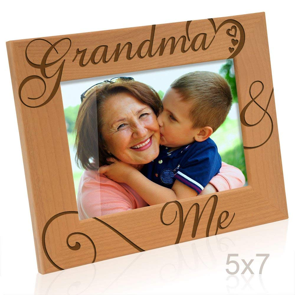 Kate Posh - Grandpa & Me Natural Wood Picture Frame - I love You Grandpa Gift, Grandpa Gifts, Grandparents Gifts, Best Grandpa Ever Gifts, Grandfather Gifts, Christmas Gift
