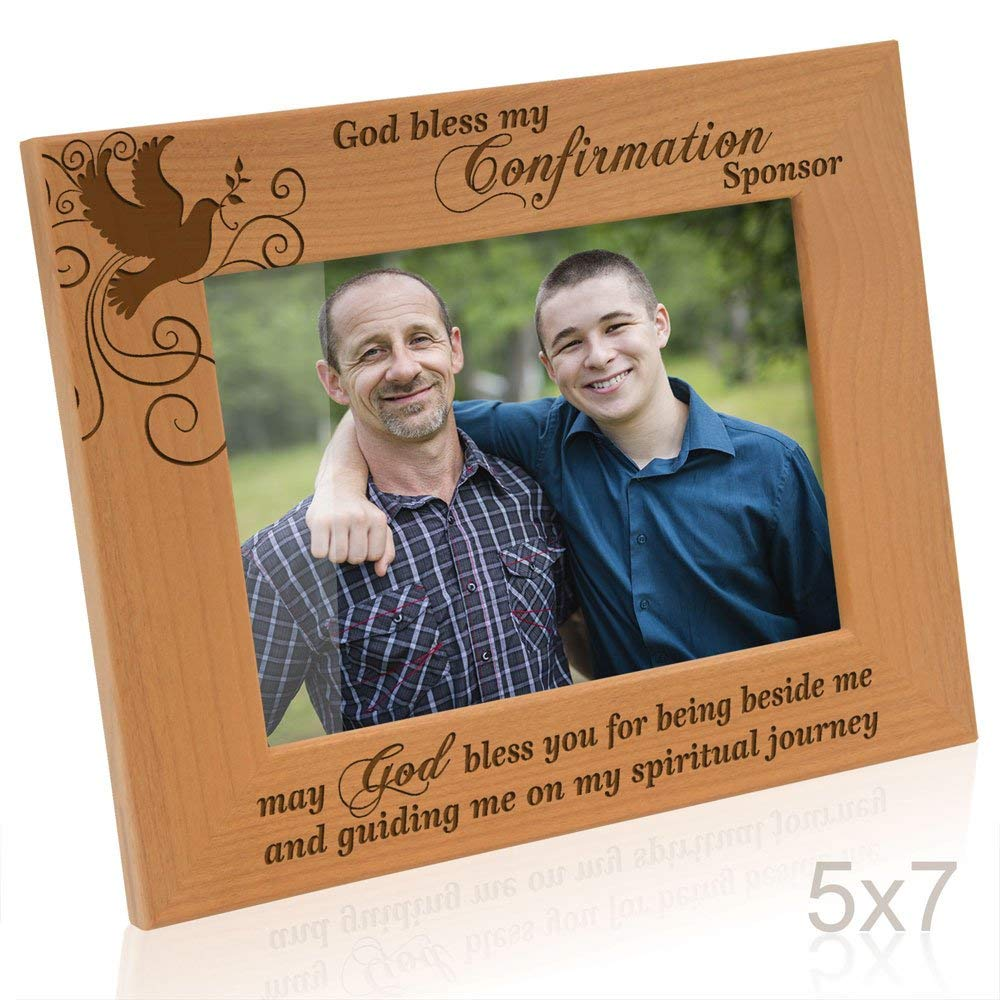 Kate Posh - Confirmation - My confirmation and my Sponsor - Wood Picture Frame
