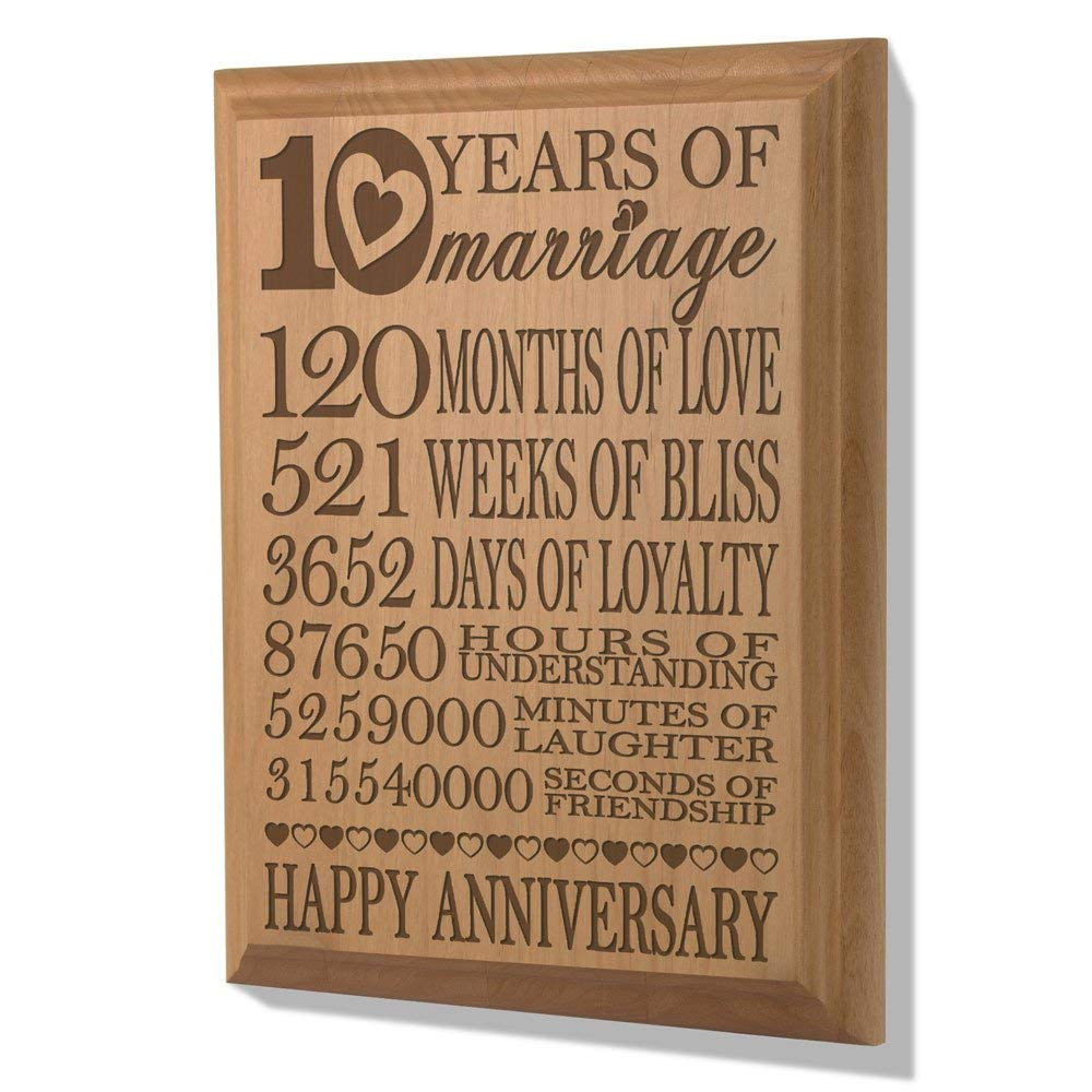 10th Anniversary plaque, 10th Anniversary Gifts