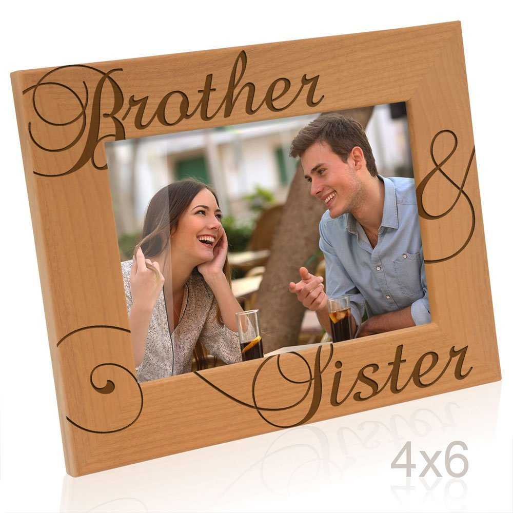 Kate Posh - Brother & Sister Picture Frame (4x6 Horizontal)