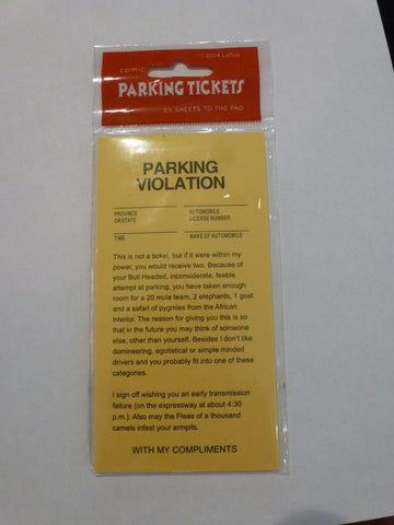 Fake Parking Ticket