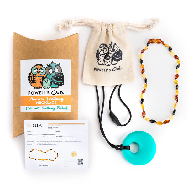 Amber Teething Necklace Gift Sets