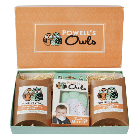Powell's Owls Teething Gift Set