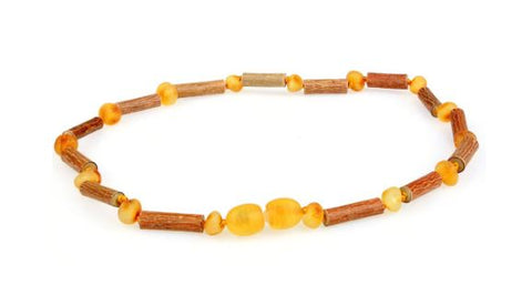 Hazelwood Teething Necklace with Raw Amber