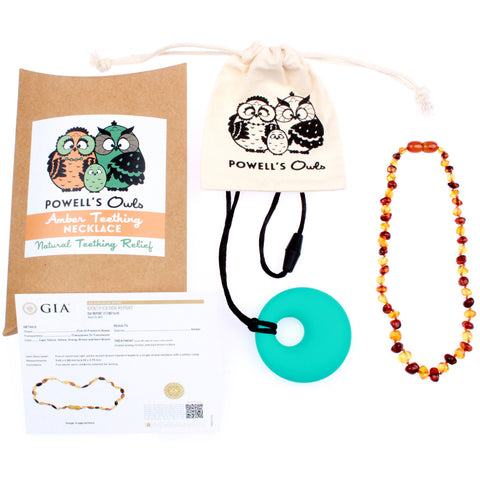 Amber Teething Necklace - Honey & Cognac - Baltic Amber Gift Set