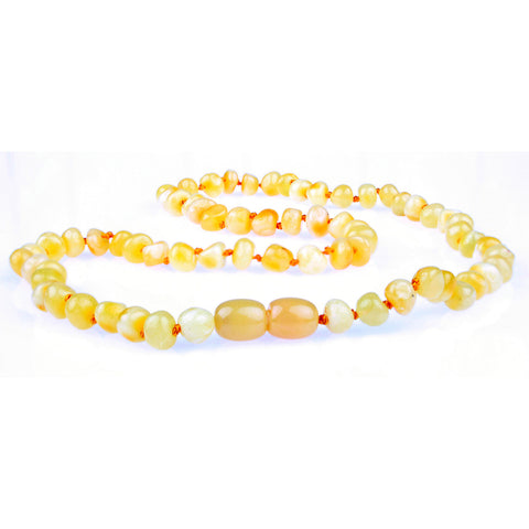 Amber Necklace for Women, Men, & Adults - Milk Polished - Baltic Amber