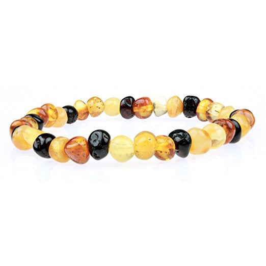 Baltic Amber Teething Bracelet//Teething Anklet for Babies Lab-Tested Toddlers /& Kids Natural Teething Pain Relief Unisex - Multicolor - 5.5 100/% Certified Natural Baltic Amber