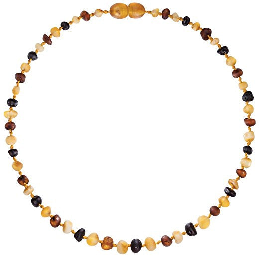 Amber Teething Necklace Multicolor Raw Unpolished Baltic Amber