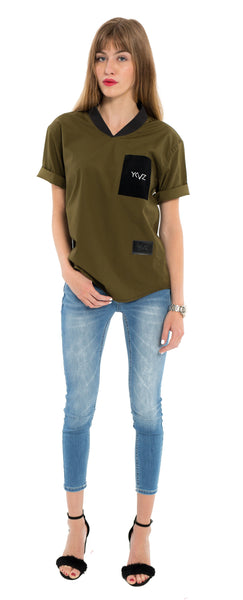 "The Khaki "" V-Shirt """