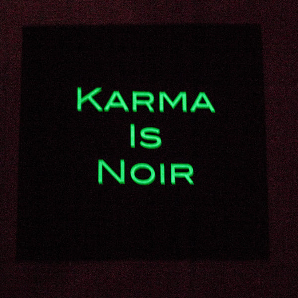 Karma Is Noir Black Tee