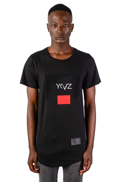 Velvet Rectangle Signature YKVZ Black Tee