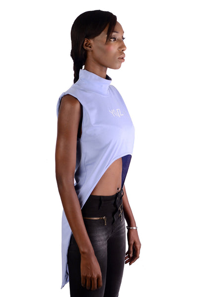 Turtle Neck Hybride  Blue Serenity Crop Top