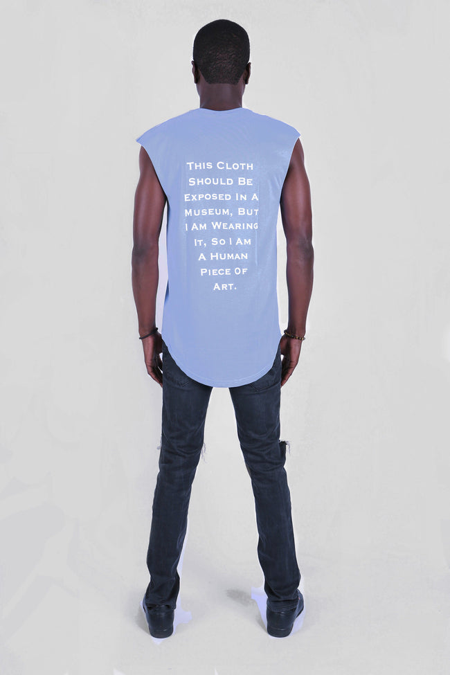 The Human Piece Of Art Blue Serenity Tee