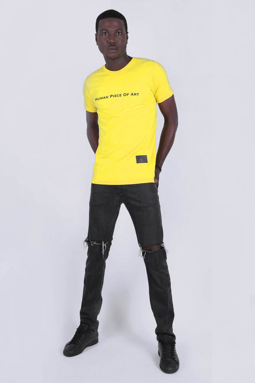 HUMAN PIECE OF ART Yellow Tee