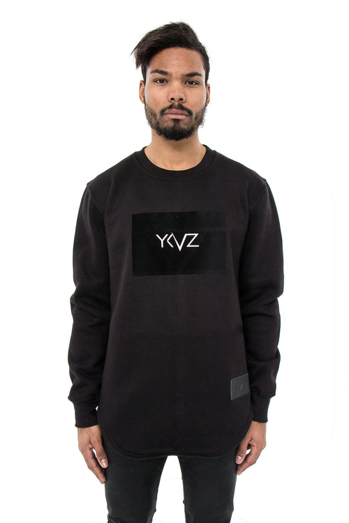 Velvet Rectangle Signature YKVZ Black Sweatshirt