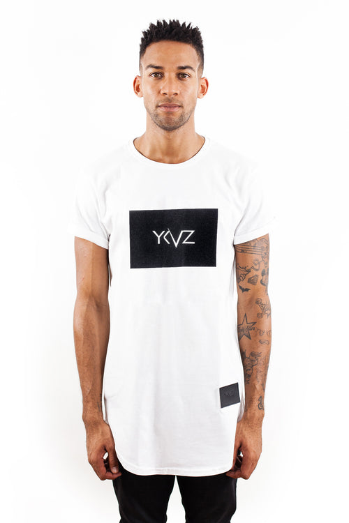 Velvet Rectangle Signature YKVZ White Tee