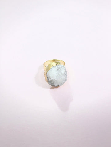 Crystal White Ring