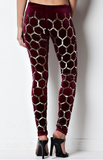 Wine Velour Leggings