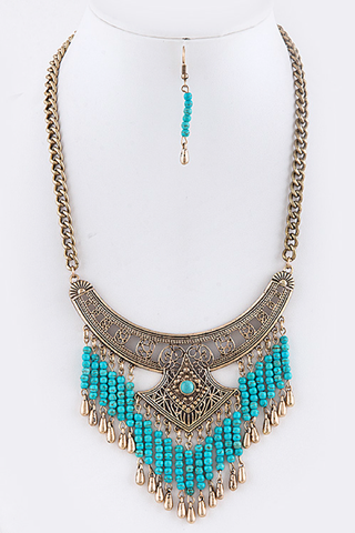 Antique Fringed Necklace