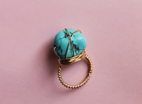 Turquoise Wired Ring