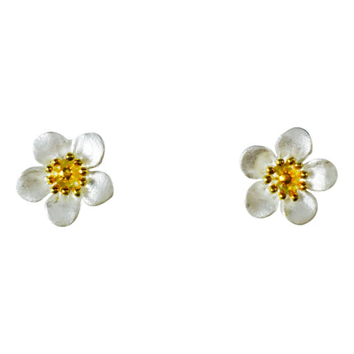 Sterling Silver Manuka Flower Studs for mothers day