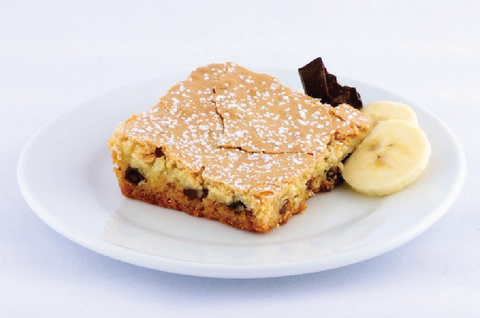 Banana Chocolate Chip Gooey Butter Cake - Park Avenue Coffee
