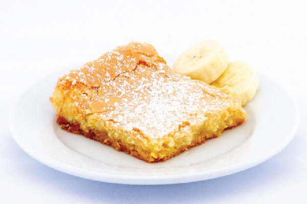 Banana Gooey Butter Cake - Park Avenue Coffee