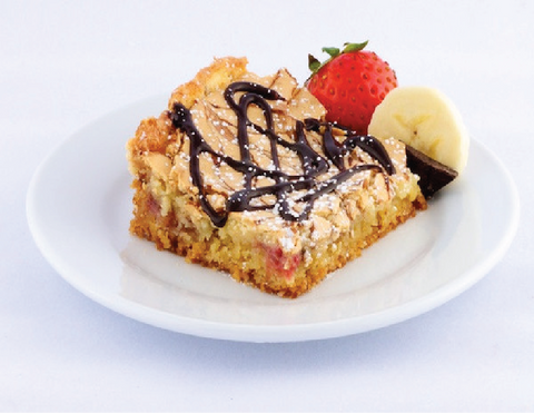 Banana Split Gooey Butter Cake - Park Avenue Coffee