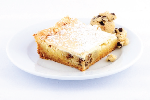 Chocolate Chip Cookie Dough Gooey Butter Cake - Park Avenue Coffee