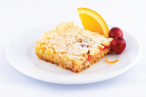 Cranberry Orange Gooey Butter Cake - Park Avenue Coffee