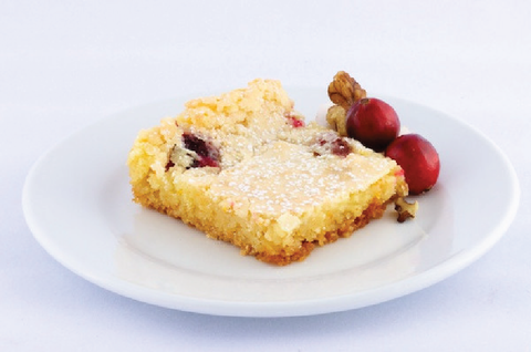Cranberry Walnut Gooey Butter Cake - Park Avenue Coffee