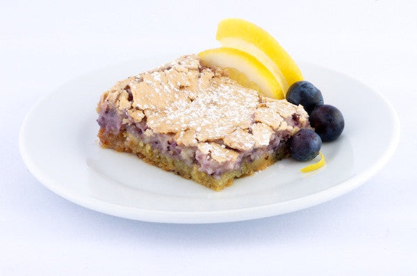 Lemon Blueberry Gooey Butter Cake - Park Avenue Coffee