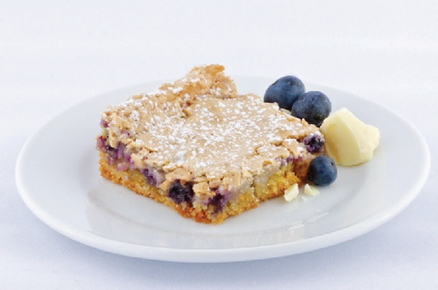 White Chocolate Blueberry Gooey Butter Cake - Park Avenue Coffee