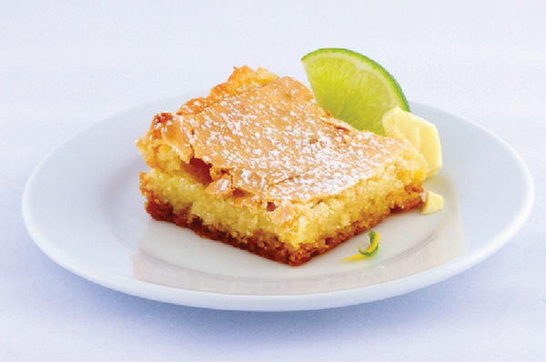 White Chocolate Key Lime Gooey Butter Cake