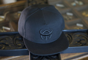 Black hat, black logo