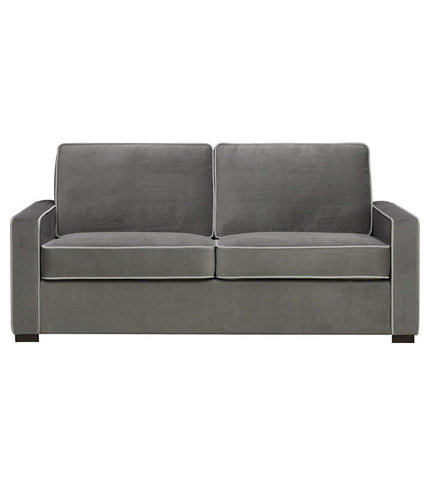 Dorel Living Powell Two-Toned Upholstered Sofa, Grey/White