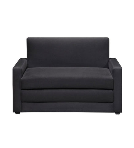 DHP Microfiber Double Undfolding Sleeper Sofa Chair, Black