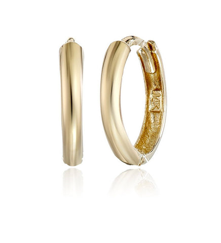 Girls' 14k Gold Huggie Hoop Earrings