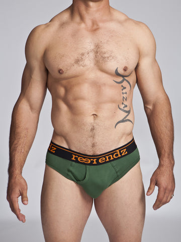Men's Fly Front Briefs With Full Front