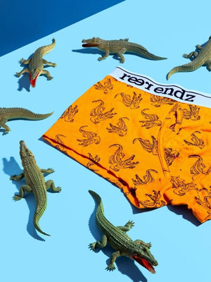 step one is to get your reer endz into these Organic cotton underwear men's Trunk underwear in our watch fro Crocs print. The best men's underwear Australia.