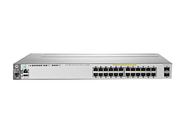 HP J9573A E3800-24G-PoE+-2SFP+ Layer 3 Switch w/ Ears and Lifetime HP Warranty