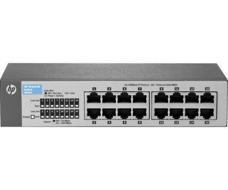 HP 1820-24G-PoE+ Managed Switch - 12 PoE+ Ethernet Ports & 12 Ethernet Ports & 2 Fast Ethernet/Gigabit SFP Ports - Prince Technology, LLC