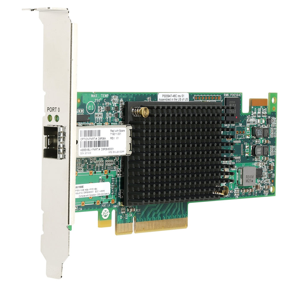 HPE StoreFabric SN1100E Host Bus Adapter - PCIe 3.0 - 16Gb Fibre Channel - HP Smart Buy