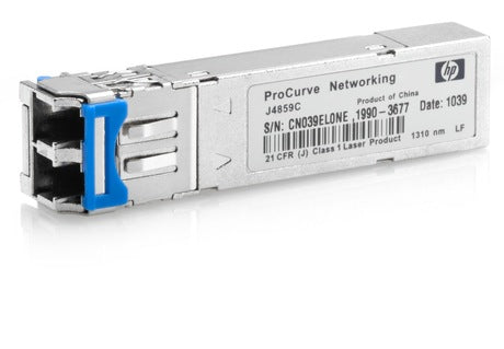 HP J4859D Aruba - SFP (mini-GBIC) transceiver module - GigE - 1000Base-LX - LC single-mode - up to 6.2 miles - for Aruba 2930M 24, 2930M 40, 2930M 48, 8320